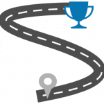 blue road cup